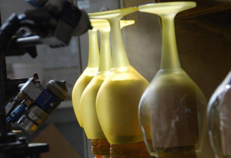 Nástřik lahví a sklenic - Moravia Decor
